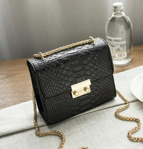 Cool Walker Alligator Crocodile Leather Mini Small Women Cross body bag