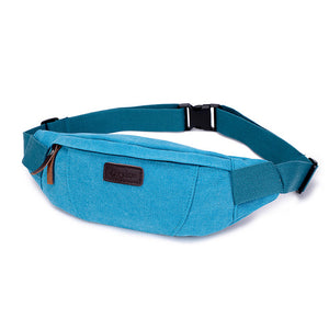 Canvas Leather Fanny Pack