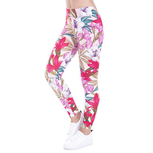 Wild Dots Printed High Waist Slim Fit Leggings