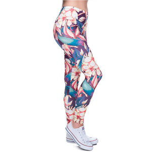 Camo Branches Slim Fit High Waist Leggings