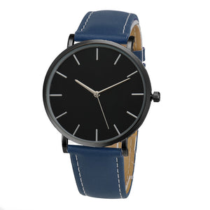 Leather Band Simplistic Wrist Watch