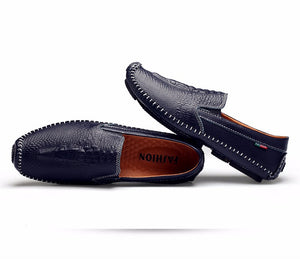 Luxury leather men's loafer shoe