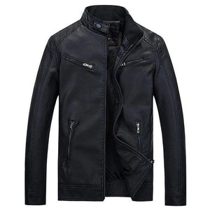 Fashionable Slim Fitted Mens Leather Jacket