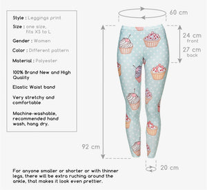 Muffin Dots 3D Slim Fit High Waist Leggings