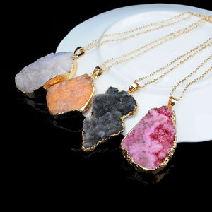 Natural Stone Quartz Crystal Necklace