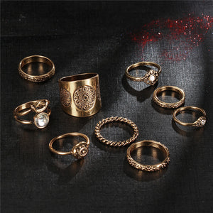 9 Pcs/Set Steampunk Boho Knuckle Ring