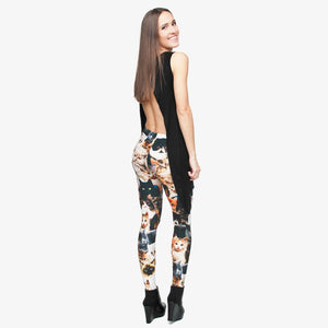 Cats 3D High Waist Slim Fit Leggings