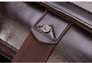 Genuine Leather Crossbody Messenger Bag