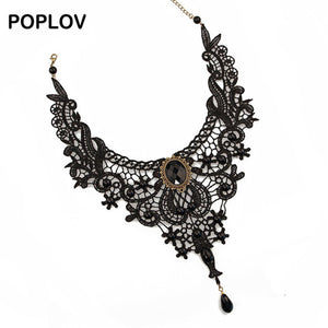 Vintage Black & White Lace Choker