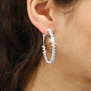 Charm Crystal Hoop Earrings