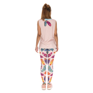 Feathers Vibes Sexy Slim High Waist Leggings