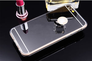Luxury Mirror Gold Case For iPhone X