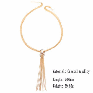 Long Tassel Necklace Pendant