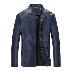 Casual Slim Mens Leather Jacket