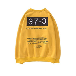 Autumn Winter Letter Printed Fleece Embroidery Hoodie