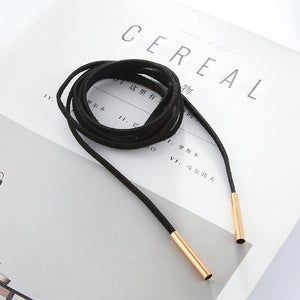 Long Black Velvet Choker