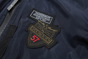 Sports Bomber Jacket Pilot with Patches