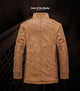 Velvet Leather Casual Windbreaker Men's Jacket