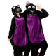 Black Purple Dinosaur Dragon Adult Onesie Pajama Costume