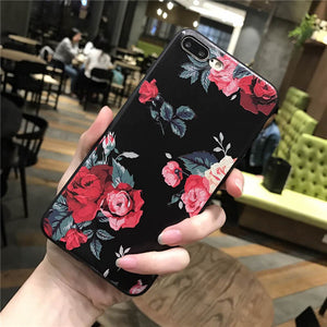 Pink White Rose Flower iPhone Case
