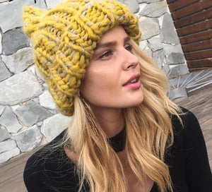 Knitted Pompon Style Beanie