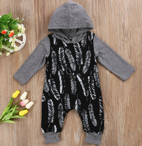 Cute Hooded Long Sleeve Romper for Baby Boy