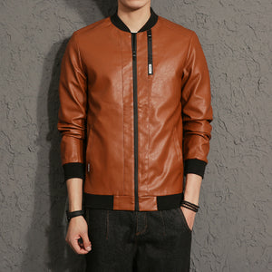 Casual Mens Leather Jacket