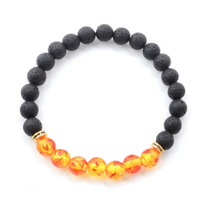Natural Stone Black Lava Beads Bracelet