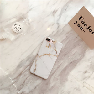 Simple Crack Marble Case For iPhone 8 & 8 Plus