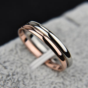 Simple Smooth Titanium Steel Wedding Ring