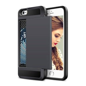 Credit Card Slot Phone Case For iPhone 8 & 8 Plus