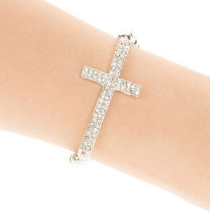 Cross Hollow Beads Charms Bracelet
