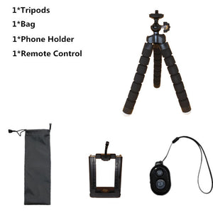 Phone Tripod With Bluetooth Remote For iPhone and Samsung Galaxy