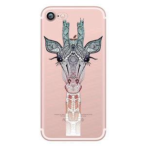 Cartoon Soft Silicone iPhone Case