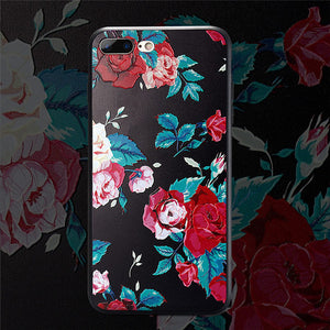 3D Relief Flower Case For iPhone 8 Plus