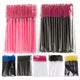 50Pcs/Pack Disposable Micro Eyelash Brushes Mascara Wands Applicator