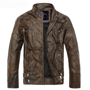 Business Casual Men's Leather Jacket