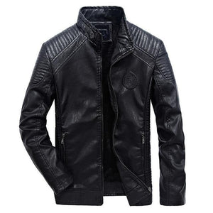 Good Quality Casual Slim Men's Leather Jacket