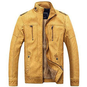 Casual Zippers Motorcycle Men's Leather Jacket