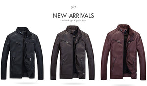 Biker Velvet Motorcycle Men's Leather Jacket