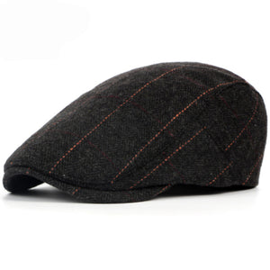 Beret Hat For Men British Western Style Wool