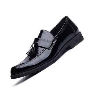 Luxury Leather Flat Loafer Men's Shoe
