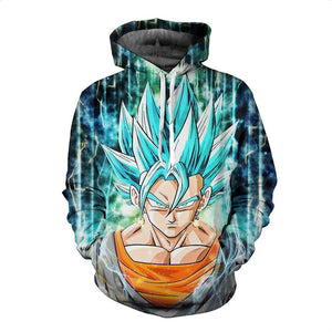3D Hoodie Dragon Ball Goku Ultra Instinct Super Saiyan