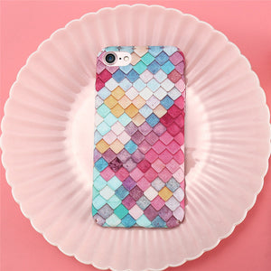 Colorful 3D Scales Phone Case For iPhone 8 & 8 Plus