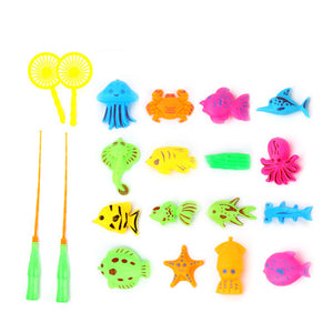 20 Pcs Children's Fishing toy set with fishing poles