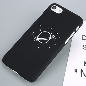 Stars, Moon & Planet  printed back Case For iPhone 8 & 8 Plus