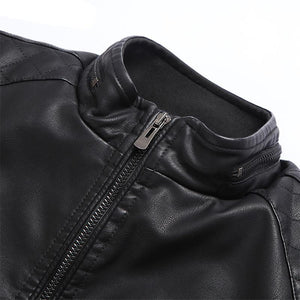 Fashion Casual Men's Leather Jacket