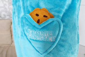 Blue Red Cookie Monster Sesame Adult Onesie Pajama Costume