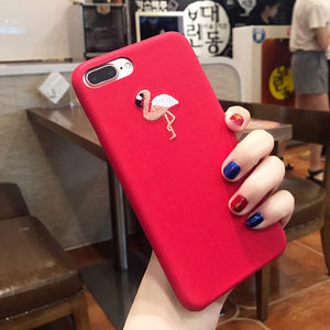 Embroidery Rose Case For iPhone 8 & 8 Plus