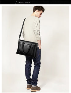 Leather Shoulder Crossbody Messenger Bag